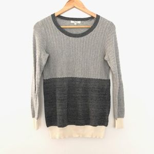 Madewell Cotton Color Block Sweater SM